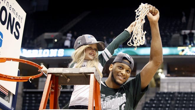 April 8: Lacey Holsworth, Michigan State basketball fan and friend of ex-Spartan Adreian Payne, 8 years old