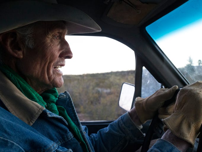 Warner Glenn drives down to saddle up for his morning