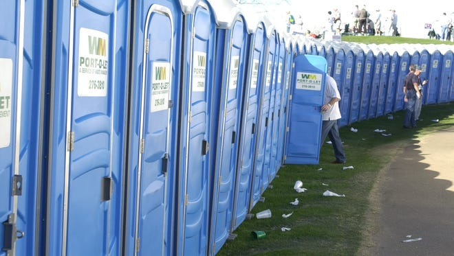 There's a long line of portable restrooms at the Phoenix Open -- and, apparently, at some transit locations around the Valley. But will they last?