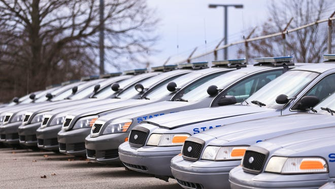 Courier Journal file photo of police cars.