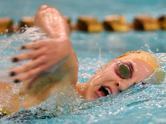 Red Lion's Courtney Schaefer, one of the area's top swimmers, will enter the pool collegiately at Georgia Southern. (Photo by Kate Penn - —GameTimePA.com)