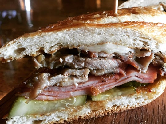 A Cubano sandwich is offered by Chef George Kyrtatas