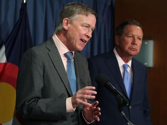 Governor John Kasich (R-Ohio) And Gov. John Hickenlooper (D-Colo) Speak On The GOP Senate Health Care Bill