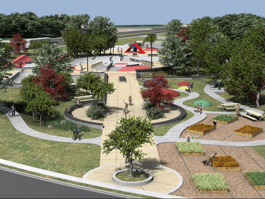 Another angle of a proposed skatepark in the Cincinnati