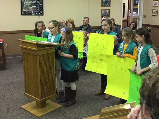 Girl Scout members in DeWitt pitched in January to City Council a plan to make seven city parks and a playground smoke-free. Council members appear ready to adopt an ordinance.
