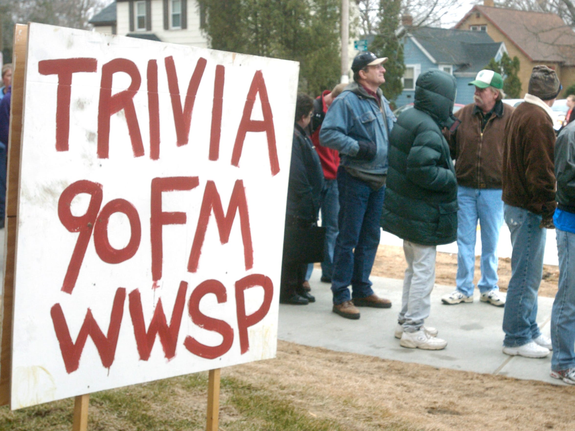 Members of trivia teams wait in line to register for the world's largest trivia contest in this 2008 file photo.