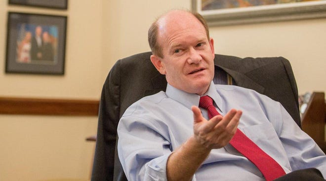 Sen. Chris Coons, D-Del, is a likely candidate to lead the Democratic Senatorial Campaign Committee.