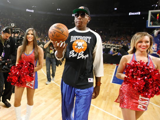 Former Detroit Piston Dennis Rodman delivered the game