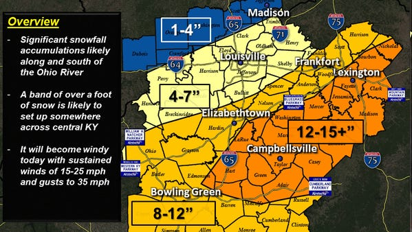 Forecast as of 10:30 a.m.