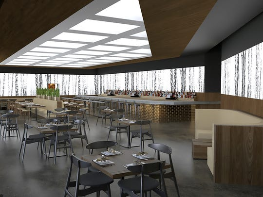 A rendering of one of the dining areas at the forthcoming