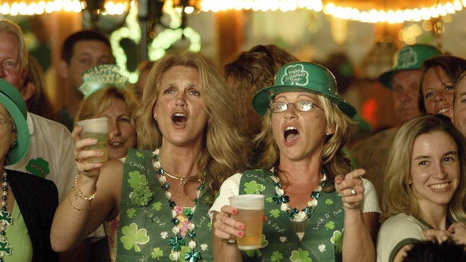 Celebrating a recent St. Patrick's Day at O'Shea's Irish Pub in downtown West Palm Beach.