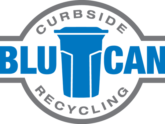 Logo for BluCan curbside recycling.