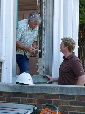 Tom Silva (left) and Kevin O'Connor of  the PBS series 'This Old House' at work on the 2016-2017 season's Detroit  home project.