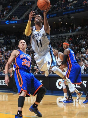 Tuesday January 10, 2012 -  Memphis Grizzlies guard