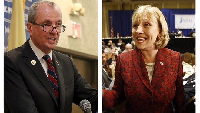 Democratic candidate Phil Murphy, left, or Lt. Gov. Kim Guadagno, right, could be the first Monmouth County native in the governor's office in over 100 years.