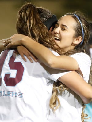 Rancho Mirage High School, in white top uniform, hosted Coachella Valley High School on February 7, 2018. The Rattlers won 3-2.