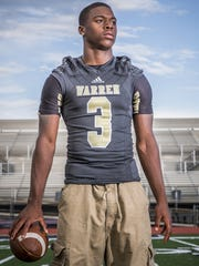Dijon Anderson, a talented football player at Warren Central, lost his life to gun violence. This portrait was taken Aug. 10, 2016.