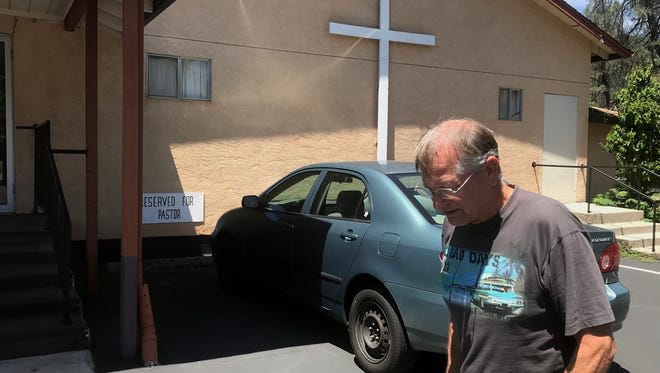 George Howell, pastor of the Community Baptist Church of Shasta Lake, says the small church has burglarized twice in little more than a year.