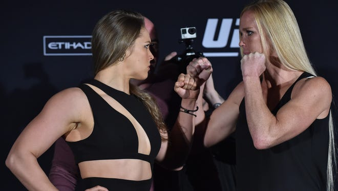 Ronda Rousey and Holly Holm will meet Saturday, Nov. 14 at UFC 193.