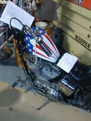 "Rudy Law's ""Easy Rider"" motorcycle."