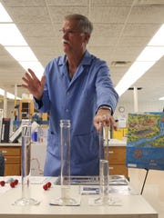 Gordon Brand, senior chemist for Des Moines water works talks about the work he does inside the laboratory at the DMWW Fleur Drive treatment plant in Des Moines.