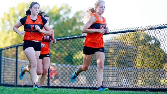 Cross country action at York Suburban High School in