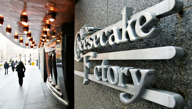 Cheesecake Factory signage hangs outside a restaurant in Chicago, Illinois, U.S., on Wednesday, Dec. 19, 2007.