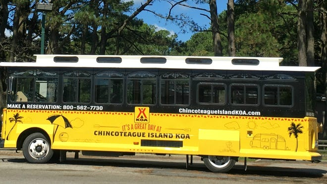Chincoteague Trolley– Courtesy of Fairfield Inn & Suites, By Marriott Chincoteague and Chincoteague KOA