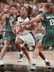 Former WNBA guard and Olympian Ruthie Bolton credits