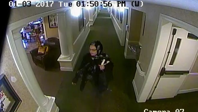Franklin police are searching for this woman after they say she burgled several elderly people.