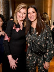Arianna Huffington, left, and Rebecca Minkoff attend