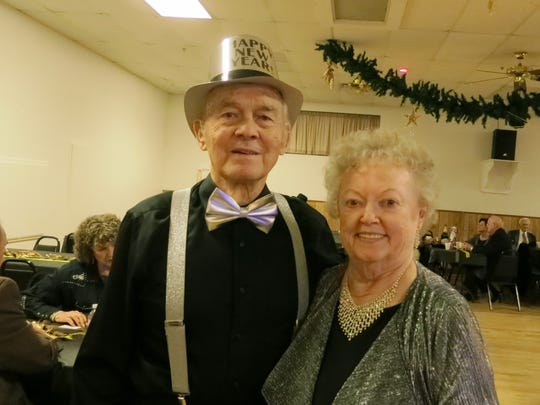 Gordon and Anna May Dawson of Cottonwood attend the New Year's Eve Celebration Dance on Dec. 31 at the Frontier Senior Center in Anderson.