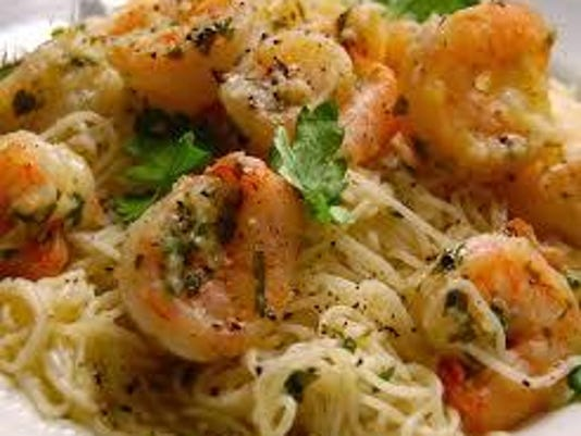 Oregano Shrimp with Angel Hair Pasta