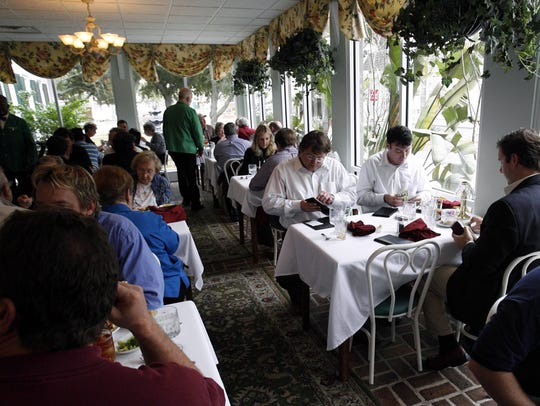 In this 2008 photo, diners enjoy lunch in the sun room