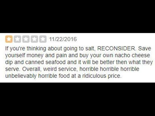 Review of Salt on Mass.