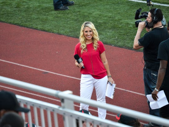 Kristen Eargle working on the sidelines at Fortera