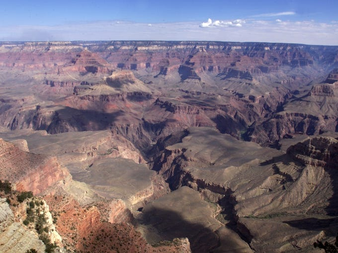 GRAND CANYON: The view of the Grand Canyon from Mather