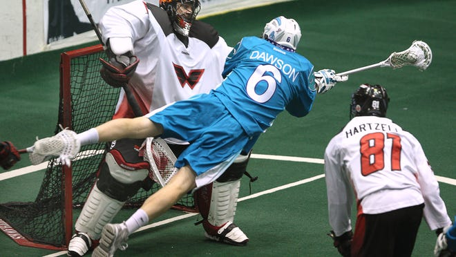 Dan Dawson of the Knighthawks saw his NLL consecutive games played streak end at 234 last weekend.