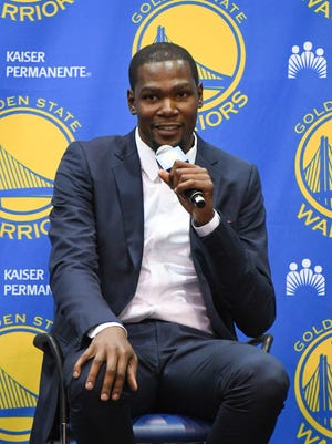 Kevin Durant said he doesn't want to go through the free agency process again.