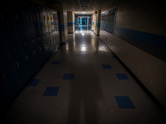 The halls of Frederick H. Tuttle Middle School in South