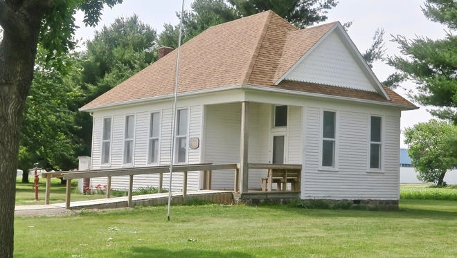 The Malcom No. 6 School at the Poweshiek County Heritage Park located at the Poweshiek County Fairgrounds in Grinnell.
