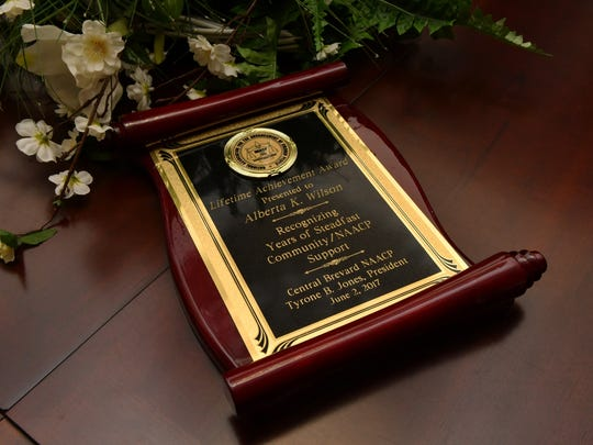 Alberta Wilson of Rockledge is the recipient of the Lifetime Achievement Award from the Central Brevard NAACP, an honor recognizing years of community and NAACP support.