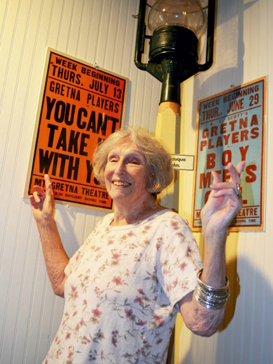 Pat Pinsler, docent and board member of the Mt. Gretna Area Historical Society, is as passionate about theater as she is about Mt. Gretna and the society's museum.