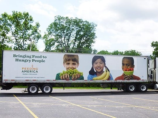 Mobile food pantry truck