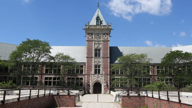 The exterior of New Rochelle High School.