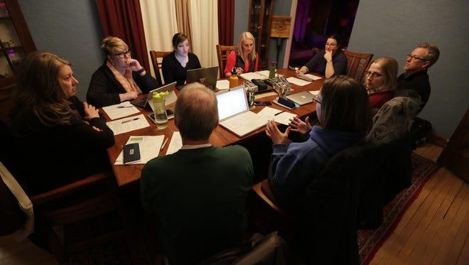 Oshkosh Food Co-op board members hold their bi-weekly meeting.