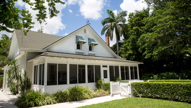 Elaine Reed, president and CEO of the Naples Historical Society, is drafting a proposal to the city to preserve historic properties in downtown Naples. The Historic Palm Cottage is the educational headquarters for the Naples Historical Society.