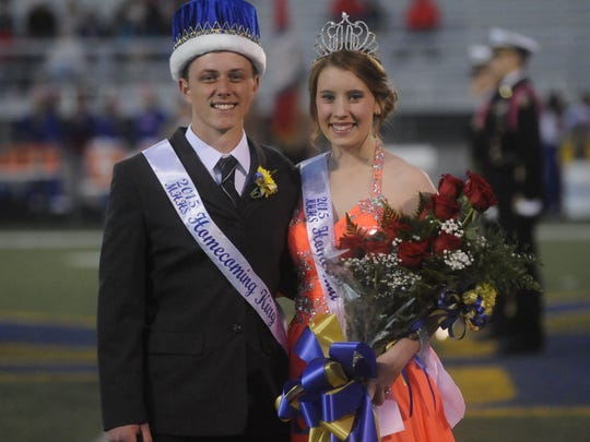 MHHS Homecoming king and queen Doug Tucker and Emily Hubbard.