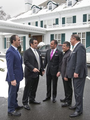The new owners of Shadowbrook in Shrewsbury, seen in this February file photo, are (from left) George Kourgelis, James Kourgelis, Mark Spinelli, Mike Kourgelis and Carl Carfello.