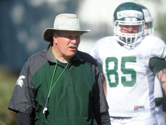 MSU assistant coach Jim Bollman in 2013.